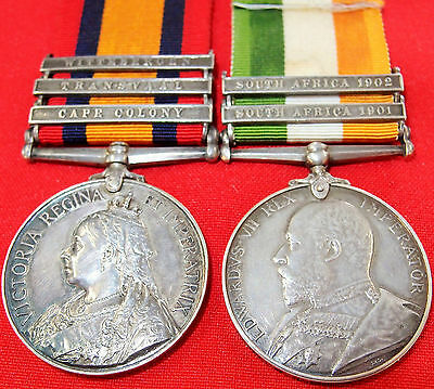 Vintage & Rare Pre Ww1 British Boer War Service Medal Group Pescod Scots Guards