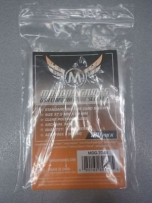 MAYDAY GAMES 100 STANDARD USA SIZE CARD SLEEVES - 57,5 x 89mm CLEAR - MDG-7044