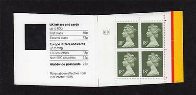 4x 18p BARCODE BOOKLET MISGUILLOTINED