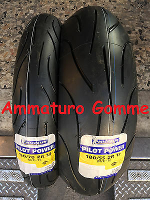 Coppia Gomme Pneumatici Moto Michelin Pilot Power 120/70 17 180/55 17
