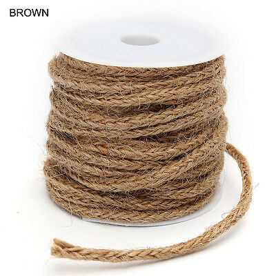 5M New Natural Rope Burlap Ribbon DIY Craft Vintage Wedding Party Decoration