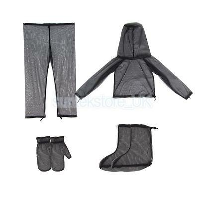 Outdoor Mosquito Bug Mesh Net Jacket Pants Suit Fishing Camping Protector L