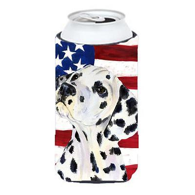 Usa American Flag With Dalmatian Tall Boy Hugger 22 To 24 oz.