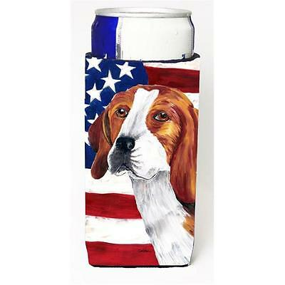 USA American Flag With Beagle Michelob Ultra bottle sleeves For Slim Cans 12 oz.