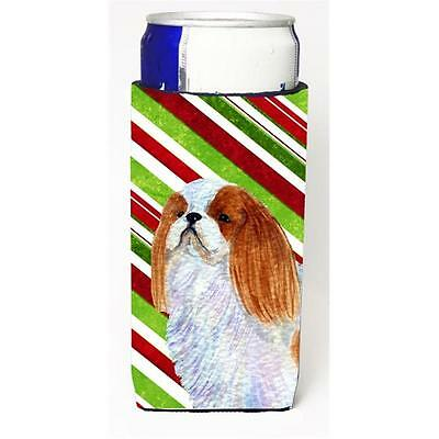 English Toy Spaniel Candy Cane Holiday Christmas Michelob Ultra s For Slim Ca...