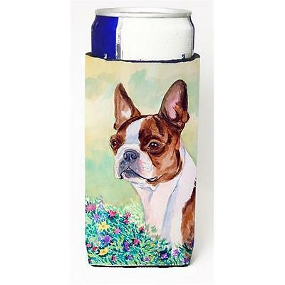 Red And White Boston Terrier Michelob Ultra bottle sleeves For Slim Cans