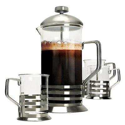 European Style Primula 8 Cup Coffee Press with 4 Mugs - New in Box