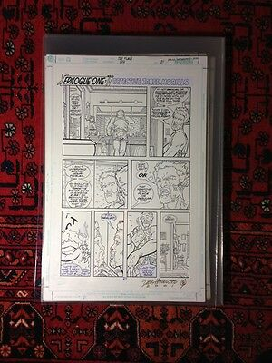 Original Art FLASH #173 Pg 21 Pencils SCOTT KOLINS Inks/Signed by Doug Hazlewood