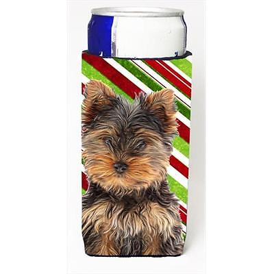 Candy Cane Holiday Christmas Yorkie Puppy & Yorkshire Terrier Michelob Ultra ...