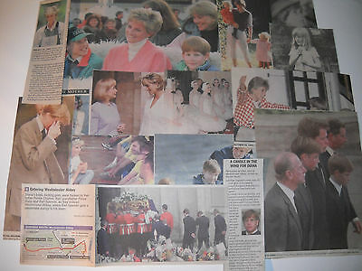 Princess Diana 14 Newspaper Clippings 1984 - 1997