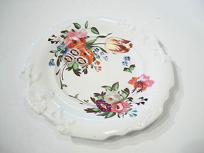 Antique Hand Painted Porcelain Cabinet Plate - Unsigned - U.K. - 19th Century