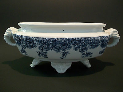 ROYAL WORCESTER - Antique Twin Handled Transfer Decorated Center Bowl - C.1888