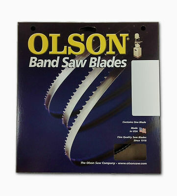 "Olson 14593 Band Saw Blade  93-1/2"" Long x 1/4"" Wide .025"" Thick 6 TPI"
