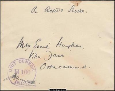 India 1943 (Jan) Censored Government of India Cover to India