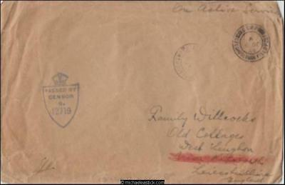 Czech/England 1944 (Dec) Censored WWII Military Cover to W Leughon Leics. GB