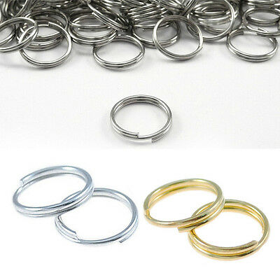 100Pcs Silver Split Gold Open NEW Rings 7/8/10mm Metal Double Connectors Jump