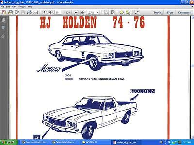 Holden Gmh Id Information Data Cd