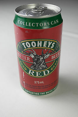 01 - Vintage  Tooheys Red Beer Can Tin 375Ml Melbourne Music Festival 1995