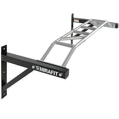 Mirafit Wall Mounted Multi Wide Grip Chin/Pull Up Bar Home Gym Chinning Exercise