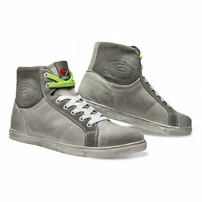 Sidi Insider Motorcycle Motorbike Casual Suede Leather Lace Boots - Grey