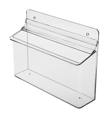 """Outdoor 8.5""""w x 4""""h Literature Brochure Holder Display Horizontal Box Pack of 6"""