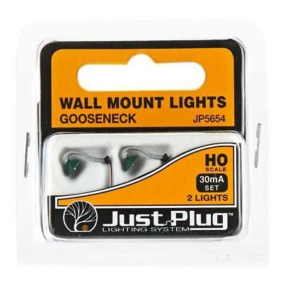 NEW Woodland Scenics Gooseneck Wall Mount Lights HO (2) JP5654