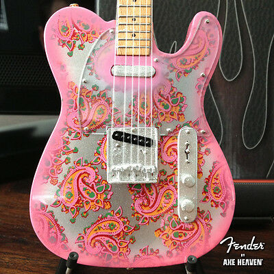 Officially Licensed Pink Paisley Fender Telecaster Mini Guitar - Brad Paisley