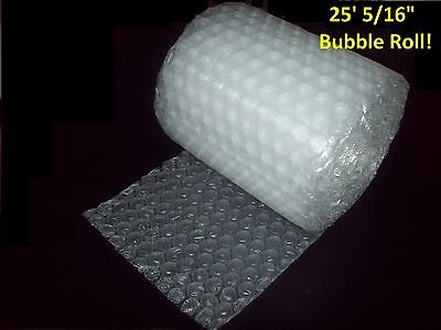 """25 Foot Bubble® Wrap Roll! 5/16"""" MEDIUM Bubbles! 12"""" Wide!  Perforated Every 12"""""""