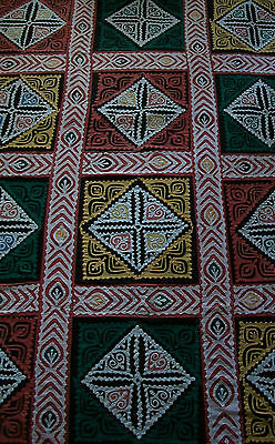 Vintage Middle Eastern Applique Tent/Wall Hanging - Egypt - Mid 20th Century
