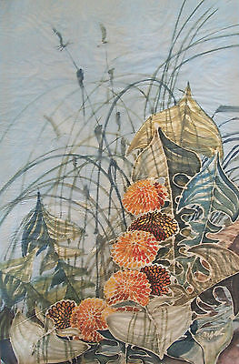 Vintage Watercolor Painting on Rice Paper - Signed - China - Mid 20th Century