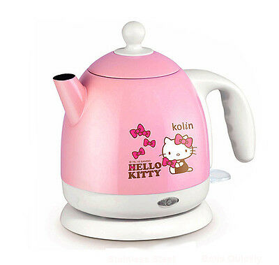 Hello Kitty 1.0L / 33.8oz Electric Kettle Stainless Steel Tea Kettle Base Plug
