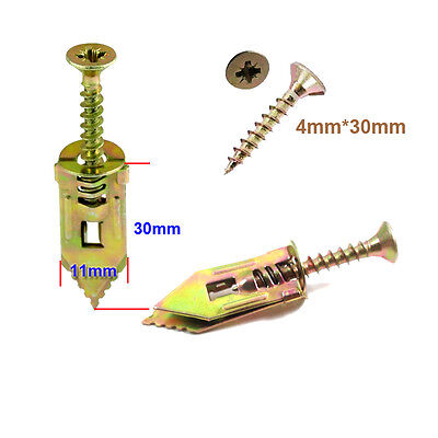 hammer in metal plasterboard cavity wall fixing plugs with 4*30mm screws
