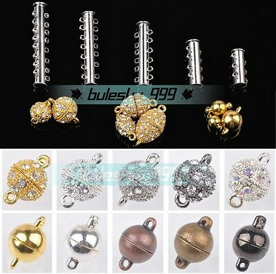 5sets Magnetic Clasps Hooks For Jewelry Making Gold/Silver/Platinum 6mm/8mm/10mm