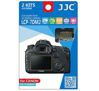 JJC LCP-7DM2 LCD Screen Guard Protector PET Film For Canon EOS 7D Mark II  2pcs