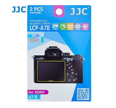 JJC LCP-A7II LCD Screen Guard Protector PET Film For Sony A7II A7SII A7RII 2pcs