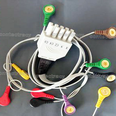 ECG Cable 10 leads ECG/EKG Holter Cable for CONTEC TLC5000 Dyniaic ECG holter