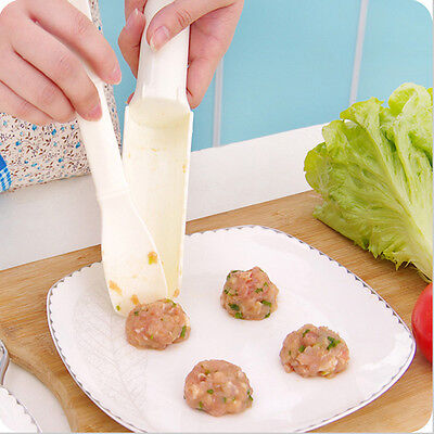 1 Set Meatball Maker Kitchen Cooking Tool Pattie Fish Ball Burger Mold Hot