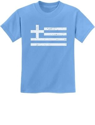 Greece Flag Vintage Style Retro Greek Youth Kids T-Shirt Gift Idea