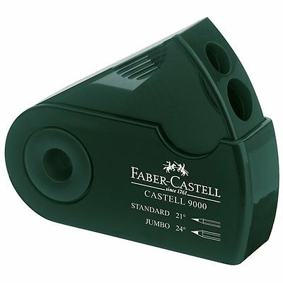 Faber Castell 9000 Double Hole Sharpener Box. Artists Drawing Pencil Sharpener.