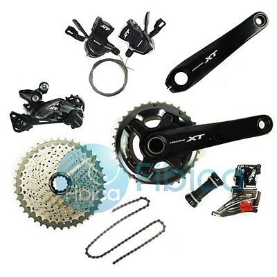 New 2016 Shimano Deore XT M8000 Double 2x11 22-speed Groupset Group set