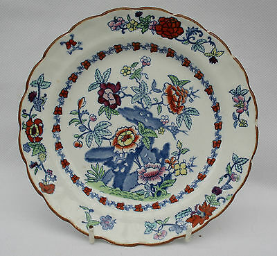 """Vintage Booths Silicon China 7.25"""" Side Plate Pompadour Pattern No 8083 + 3 dots"""