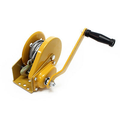 Hand winch with brake 1190lbs (540kg) 32.8ft (10m) gear ratio 4.2:1 freewheeling
