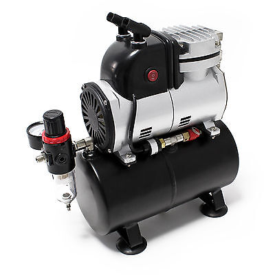 Airbrush Compressor AF189 with Air Tank water separator pressure reducer