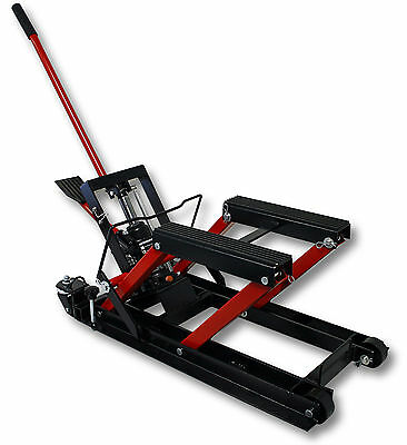 1500lb 680kg Hydraulic Motorcycle Workbench Lift Bike ATV Stand Jack Table Bench