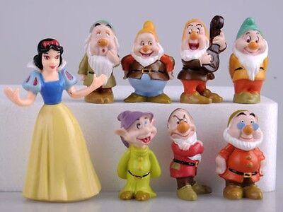 Snow White And The Seven Dwarfs Dwarves Disney 8pcs Set Figures PVC Cake Topper