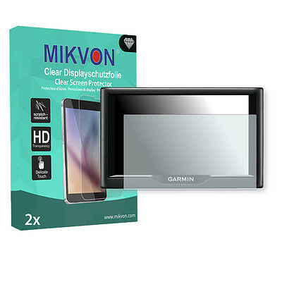 2x Mikvon Clear Screen Protector for Garmin Nuvi 68LMT Retail Package