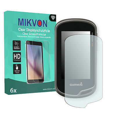 6x Mikvon Clear Screen Protector for Garmin Oregon 650t Retail Package