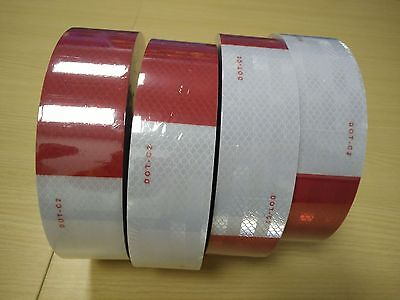 5' Approved Dot C2 Conspicuity Tape Safety Reflective Red White Trailer Rv Atv