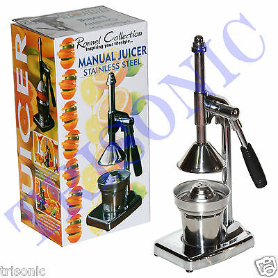 Orange Hand Press Commercial Pro Manual Citrus Fruit Lemon Juicer Juice Squeezer