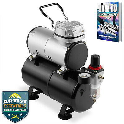 1/5 HP Airbrush Compressor - Portable Quiet Hobby Oil-less Air Pump with Tank